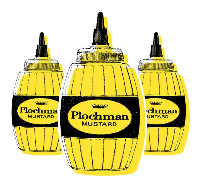 Plochman's Mustard Vintage Squeeze Bottles